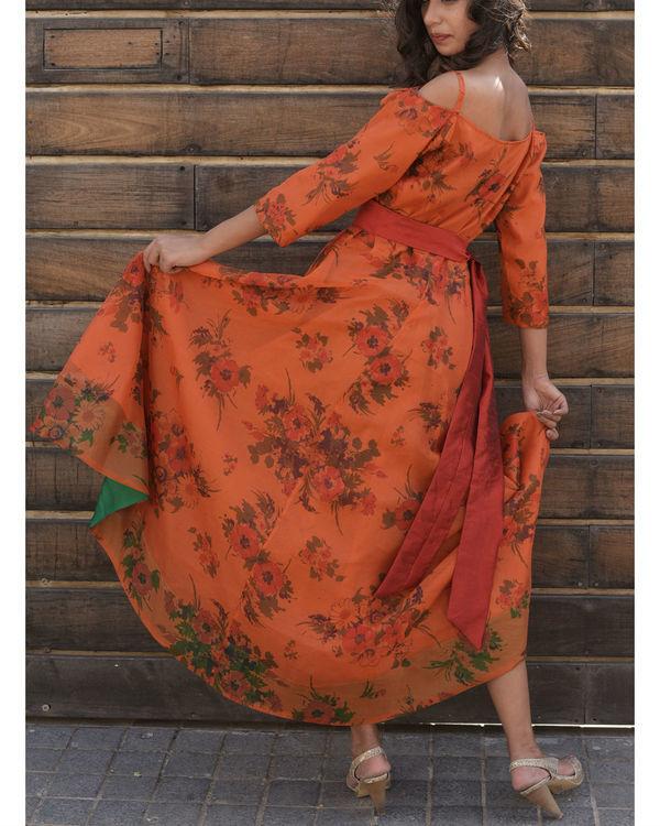 Rust assymetric dress 1