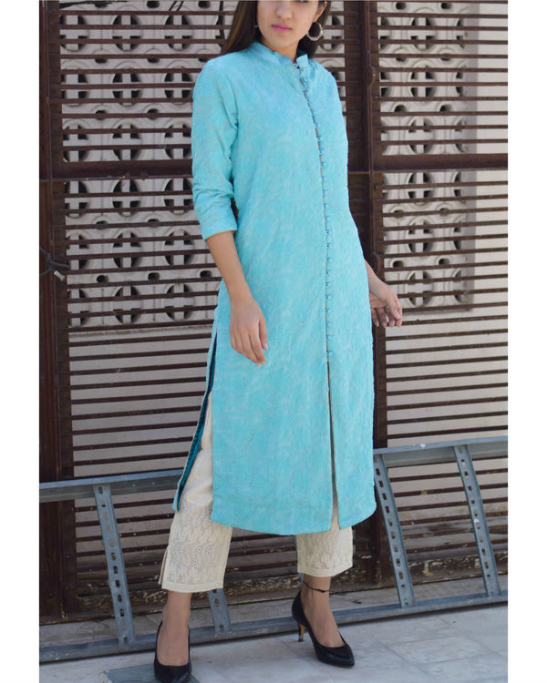 Embroidered kurta with pants 2