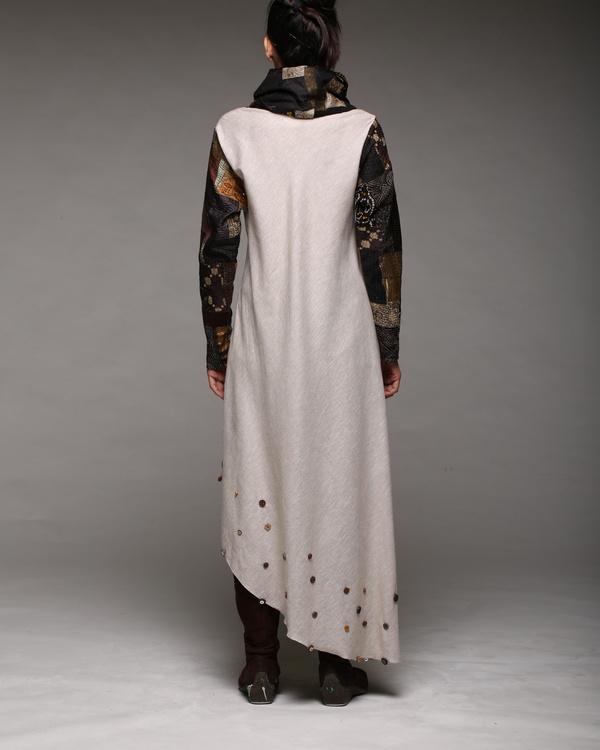 Cowl neck patchwork dress 1
