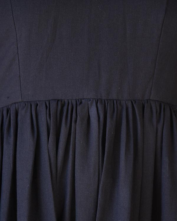 Black gathered dress with kalamkari border 3