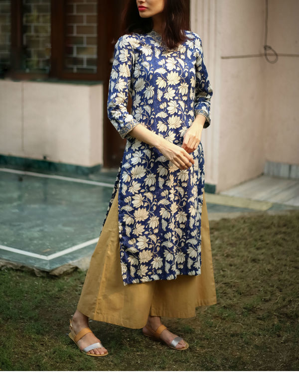 Royal blue kurta set 2