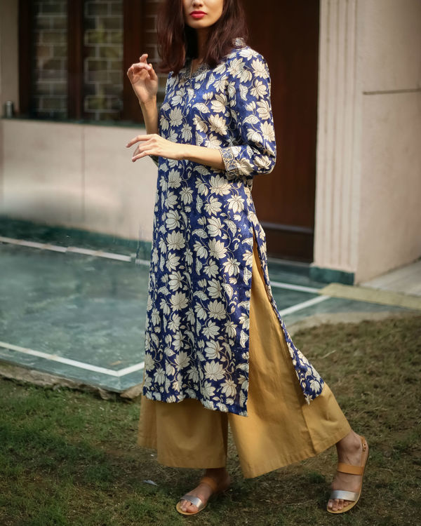 Royal blue kurta set 1