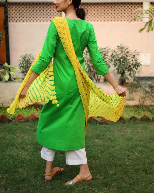 Yellow lehriya kurta set 2