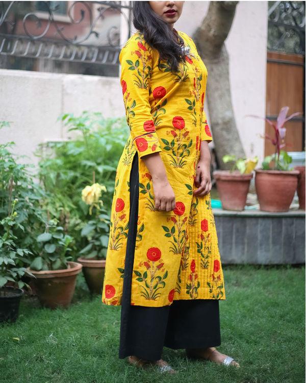 Bright & bold yellow kurta 1
