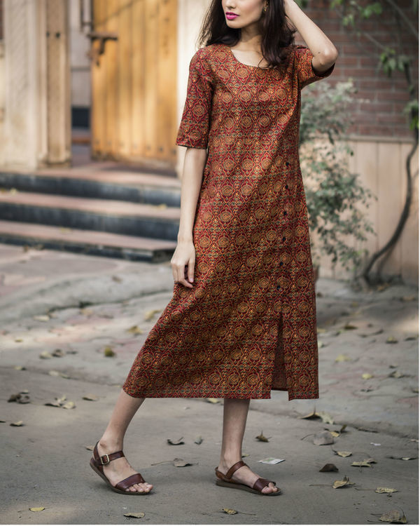 Persian printed long dress 2