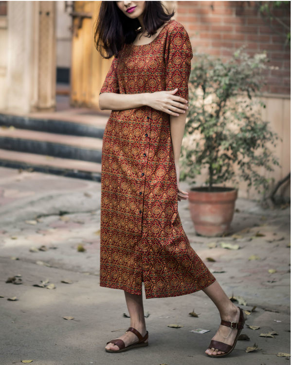Persian printed long dress 1