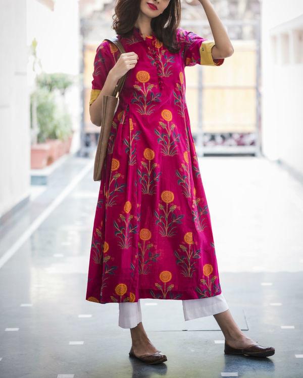 Bright & bold pink kurta 2