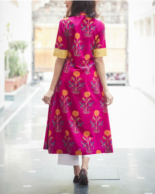 Bright & bold pink kurta 1