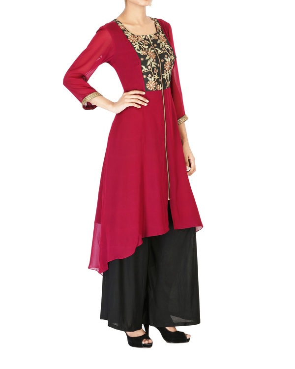 Wine georgette tunic 2
