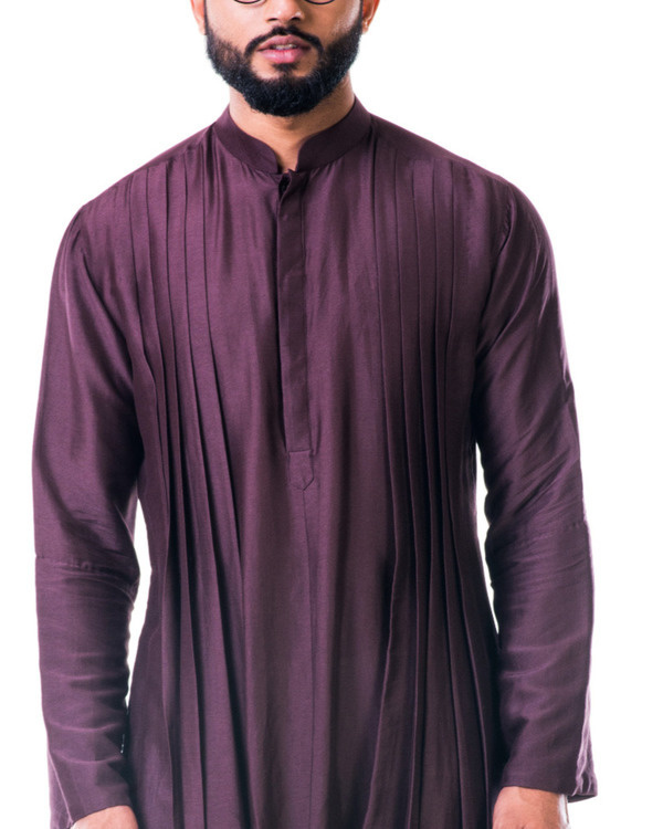 Brown double cowl kurta set 3
