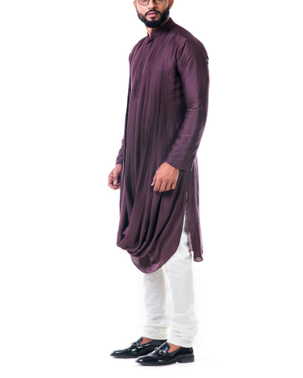 Brown double cowl kurta set 2