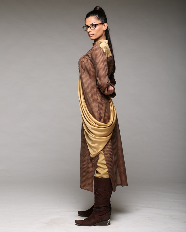 A line kurta with scarf 2