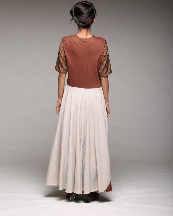 Linen cotton maxi dress 1