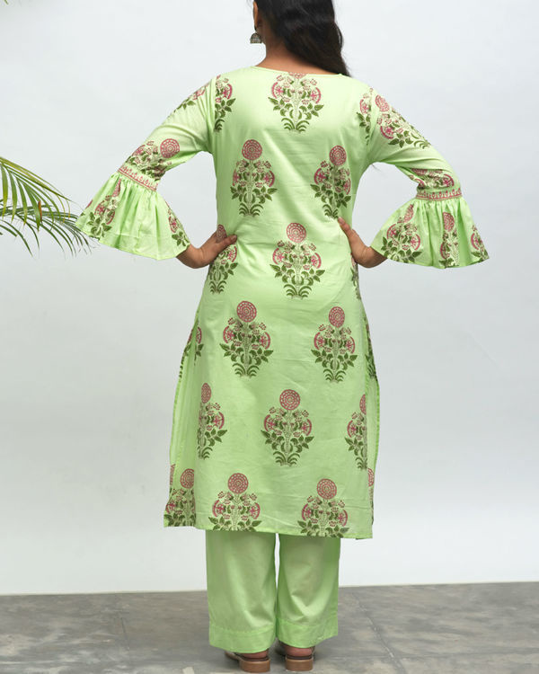 Shiva cafe hand block printed kurta pant set 2