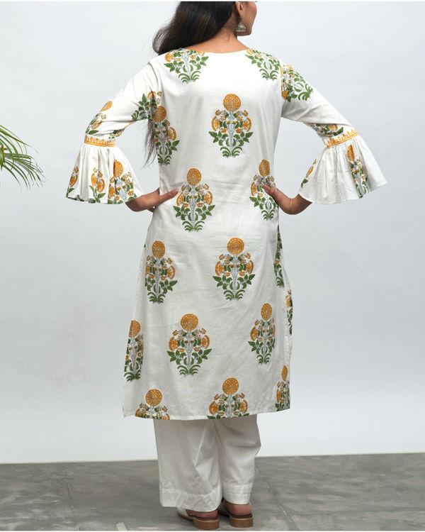 Roohi hand block printed kurta pant set 2