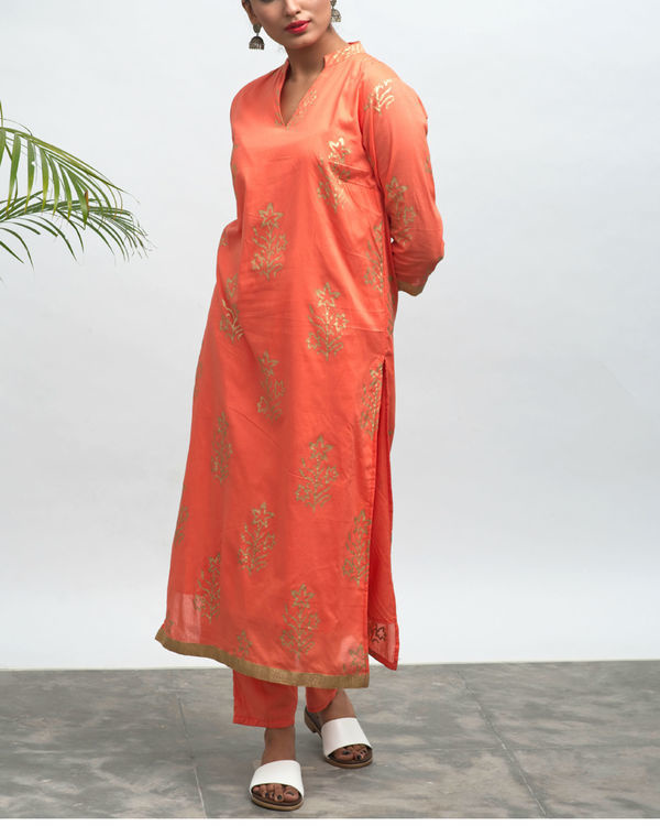 Bianca hand block printed kurta pants set 2