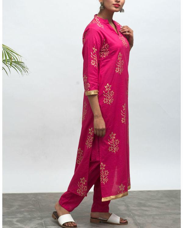 Lovesick hand block printed kurta pants set 5