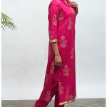 Thumb lovesick hand block pinted kurta pants set 4