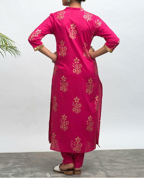 Lovesick hand block printed kurta pants set 4