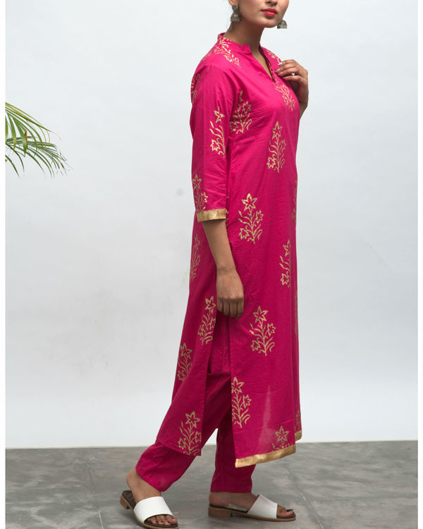 Lovesick hand block printed kurta pants set 2