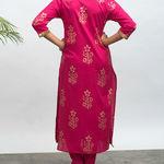 Thumb lovesick hand block pinted kurta pants set 3