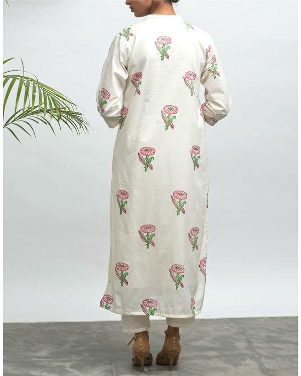 Forest road hand block printed kurta pants set 4