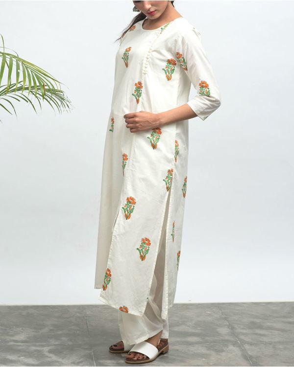 Nilofer hand block printed kurta pants set 2