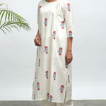 Thumb koi hand block printed kurta pants set