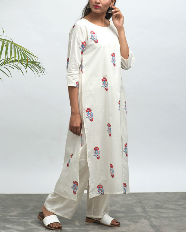 Koi hand block printed kurta pants set 2