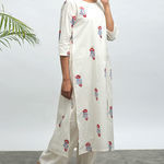Thumb koi hand block printed kurta pants set1