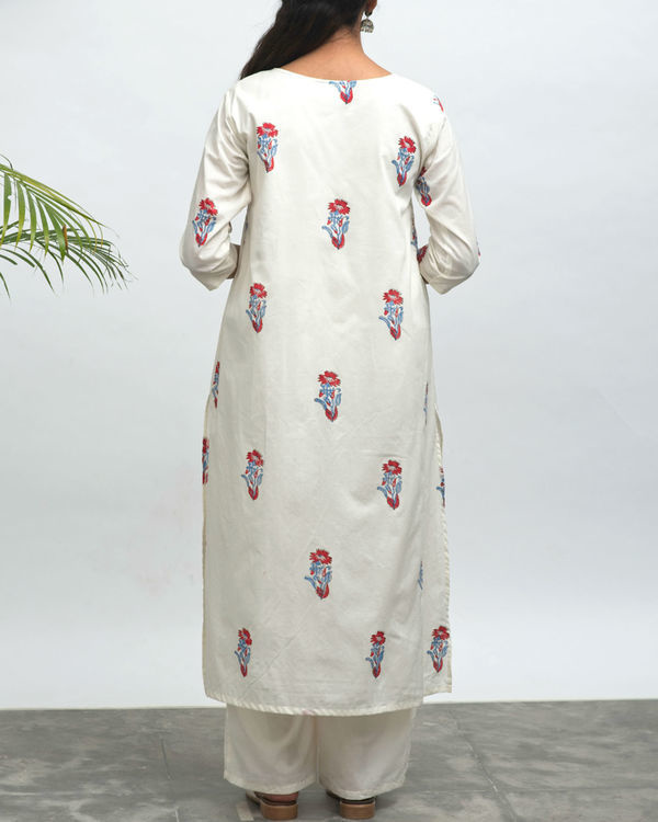 Koi hand block printed kurta pants set 1