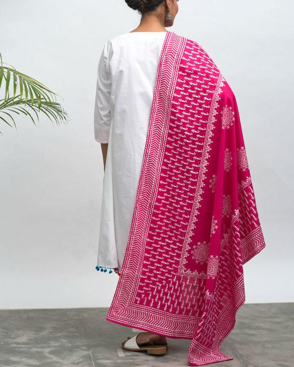Maharani kurta pants and dupatta set 2