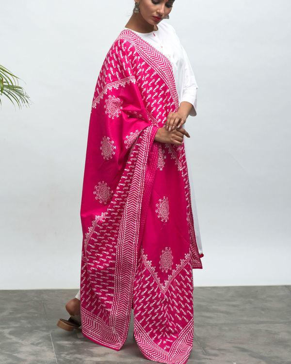 Maharani kurta pants and dupatta set 1