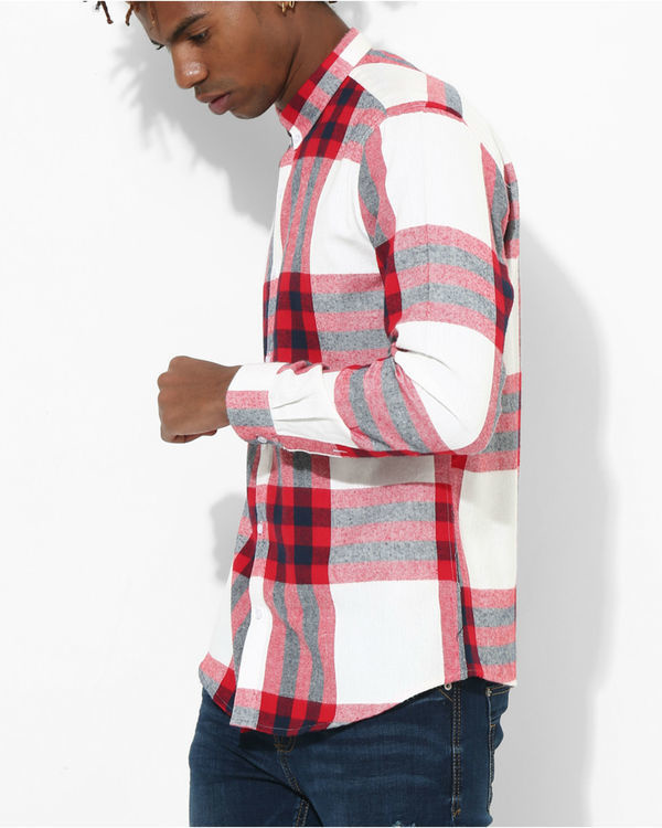 Big checks red & white 2