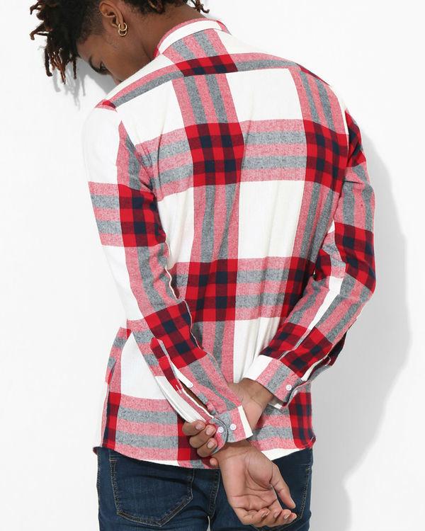 Big checks red & white 1