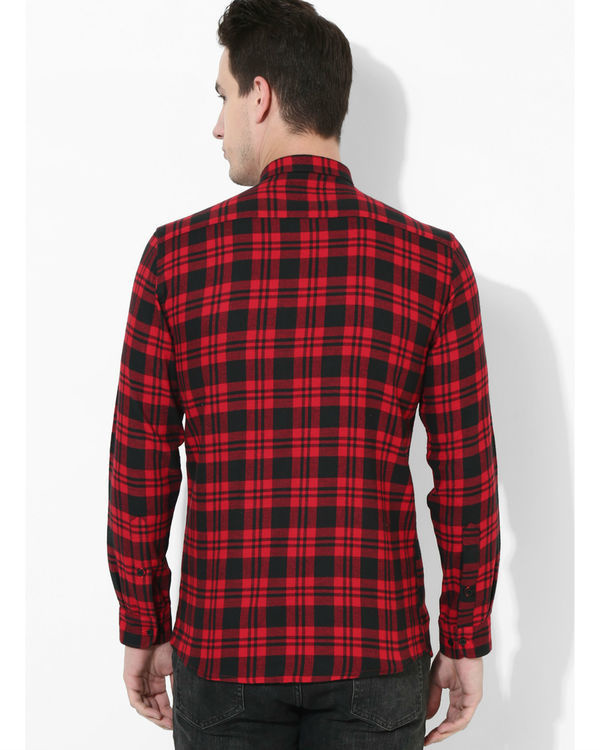 Tartan Checks Red & Black shirt 2