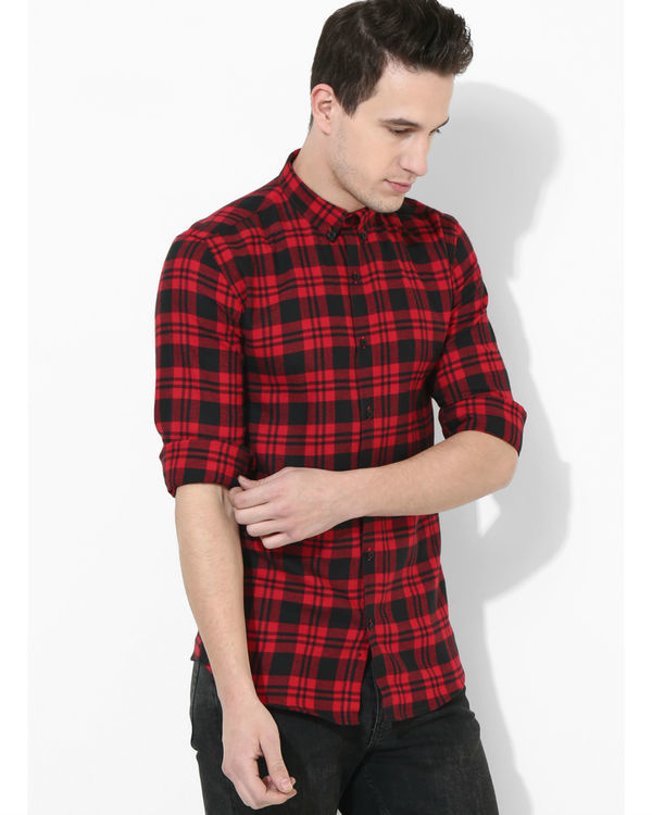 Tartan Checks Red & Black shirt 1
