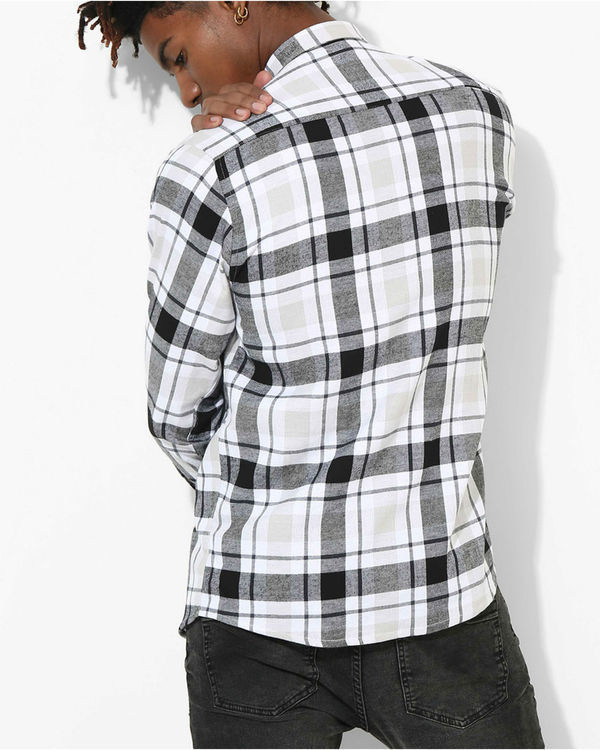 Tartan Checks White & Black Shirt 2