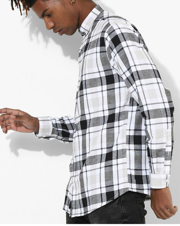Tartan Checks White & Black Shirt 1