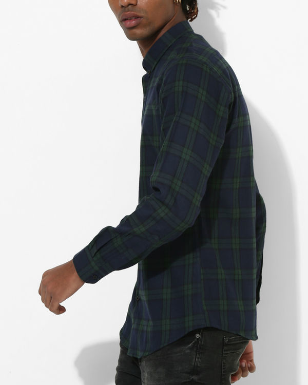 Oxford Checks Green & Black Shirt 2
