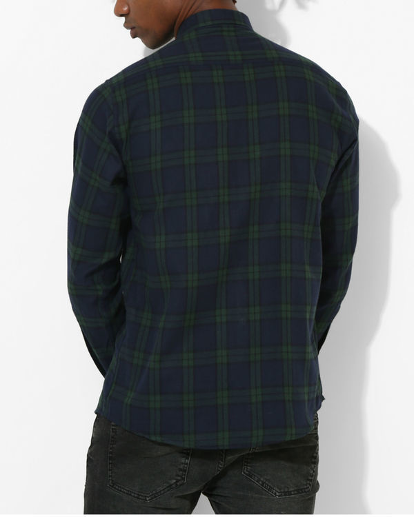 Oxford Checks Green & Black Shirt 1