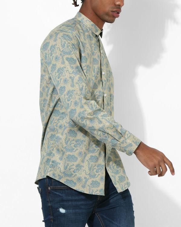 Printed Floral Beige Shirt 2