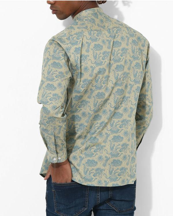 Printed Floral Beige Shirt 1