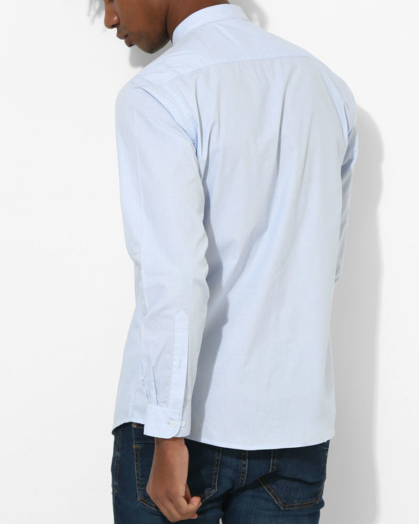 Printed Sky Blue Shirt 1