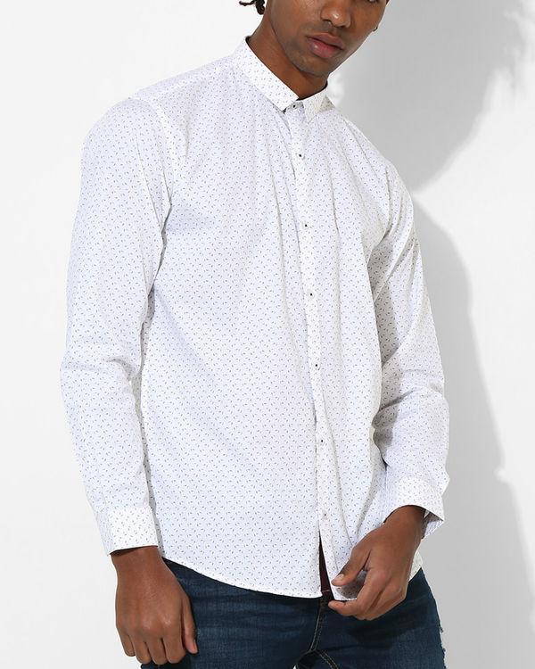 Printed White & Red Detail Shirt 2