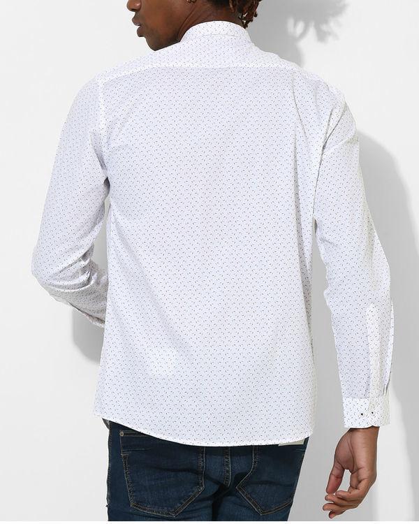 Printed White & Red Detail Shirt 1