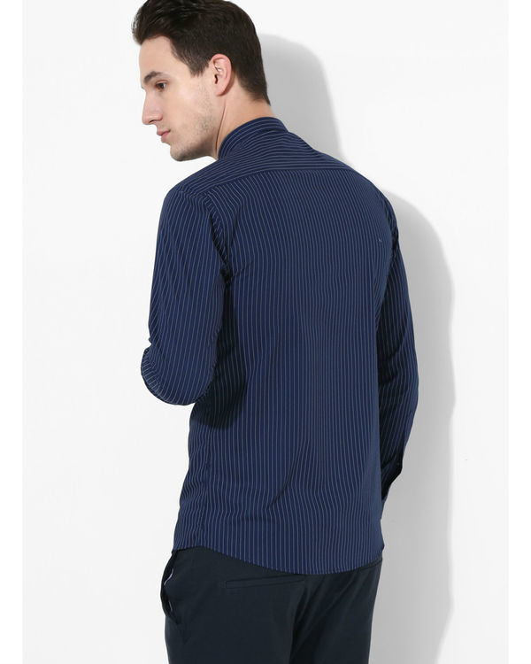 Navy blue striped shirt 2
