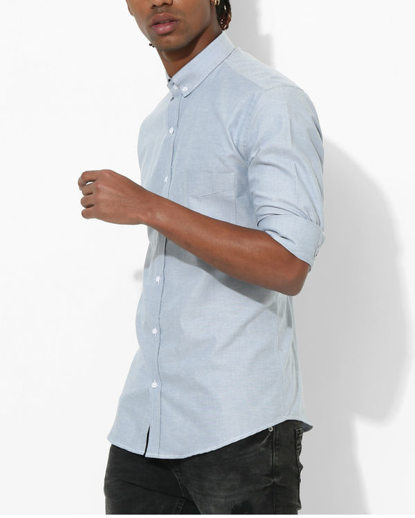 Oxford Sky Blue Slim Shirt 1