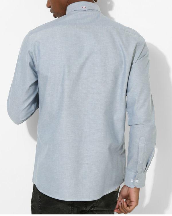 Oxford Sky Blue Slim Shirt 2