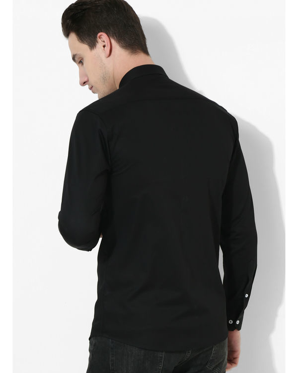 Black and grey square panelled shirt 1